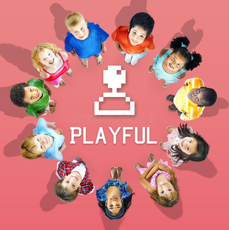 Enjoyment Entertainment Fun Game Concept stock photography