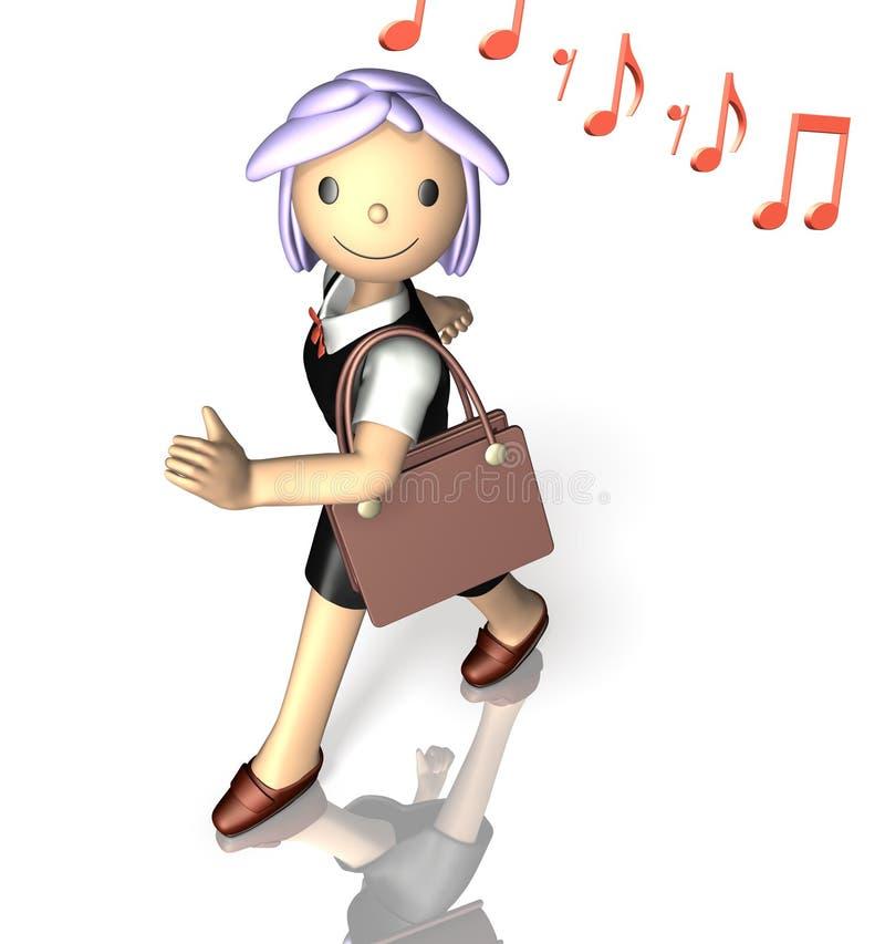 Download She enjoys commuting. stock illustration. Illustration of rendering - 30458489
