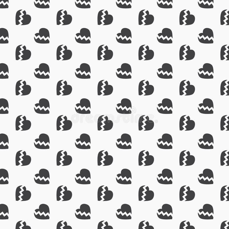 Enkel abstrakt vektorbakgrund för bruten hjärta ren design för tapeten, tyg, målarfärg stock illustrationer