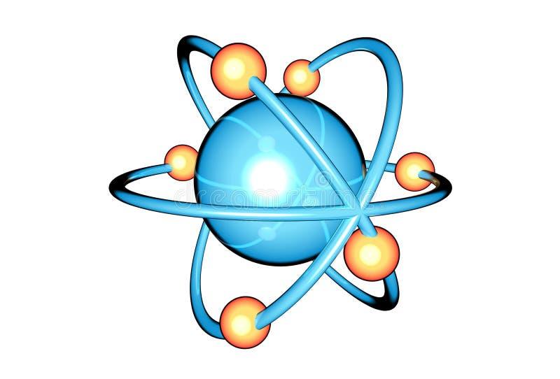 enkel atom stock illustrationer