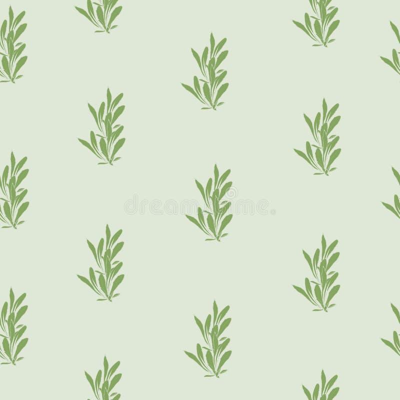 Enkel bakgrund med gr?na sidor Gr?n textur, smyckar f?r att dekorera tyger, tegelplattor och papper och tapeten p? v?ggen royaltyfri illustrationer