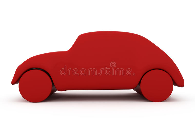 enkel bil stock illustrationer