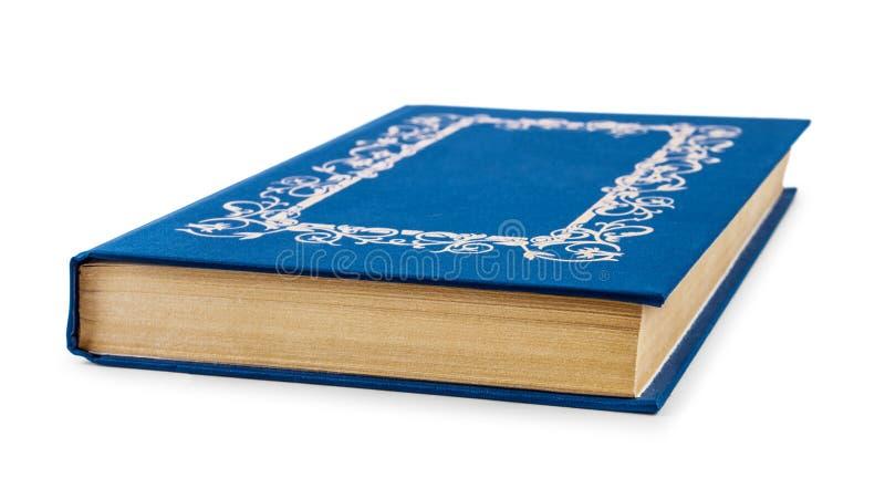 Enkel blå hardcoverbok royaltyfri fotografi