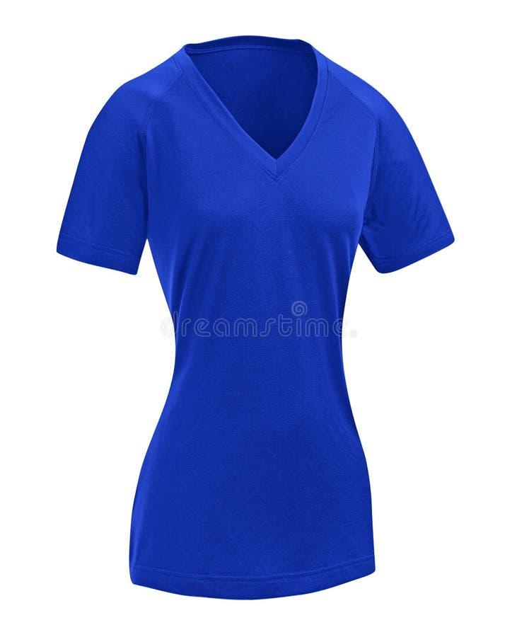 Enkel blåttklänning som isoleras på vit royaltyfria bilder