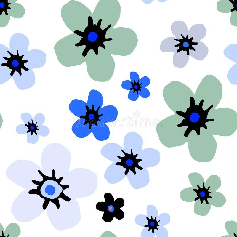 Enkel blom- modell royaltyfria bilder