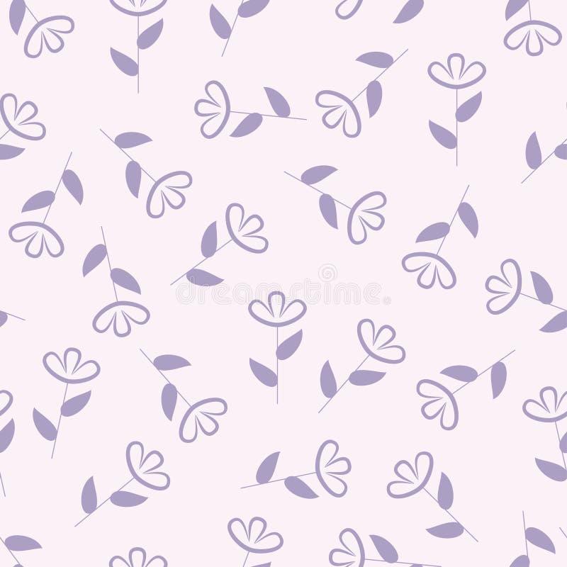 Enkel blom- sömlös modell, blommabakgrund, vektor vektor illustrationer