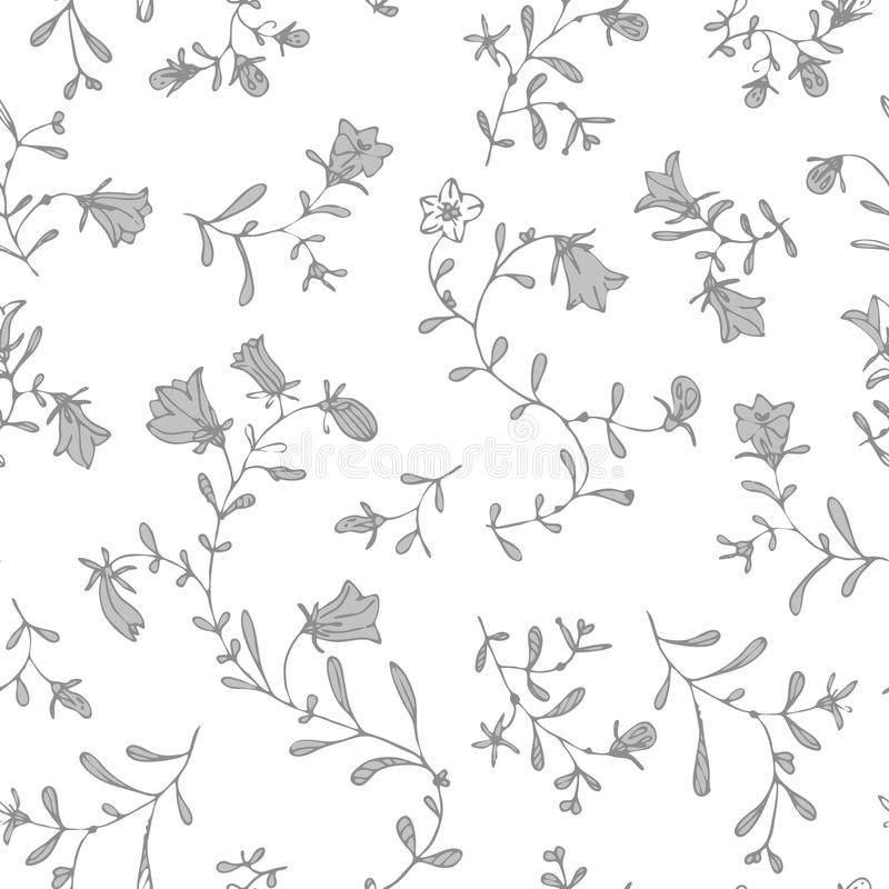 Enkel blom- sömlös modellvektor för pastellfärgad färg fotografering för bildbyråer