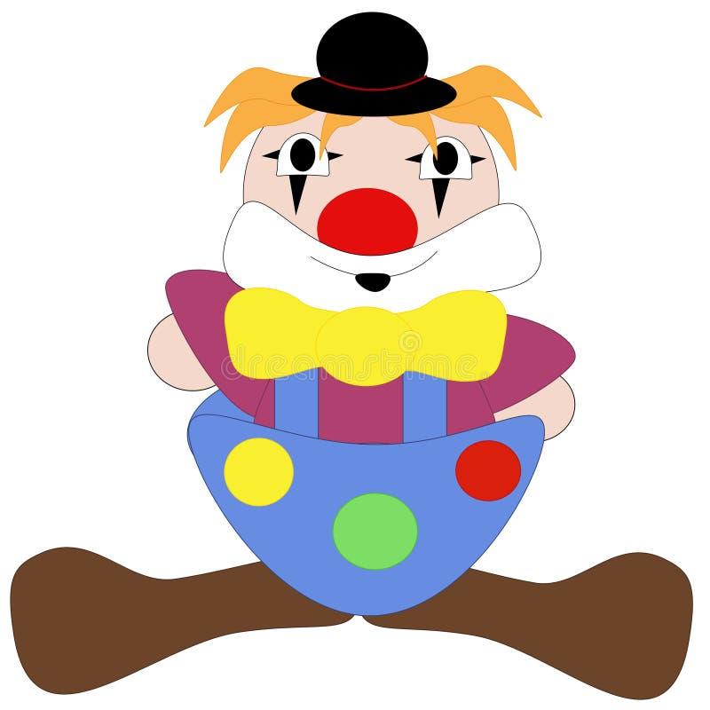 enkel clown royaltyfri illustrationer