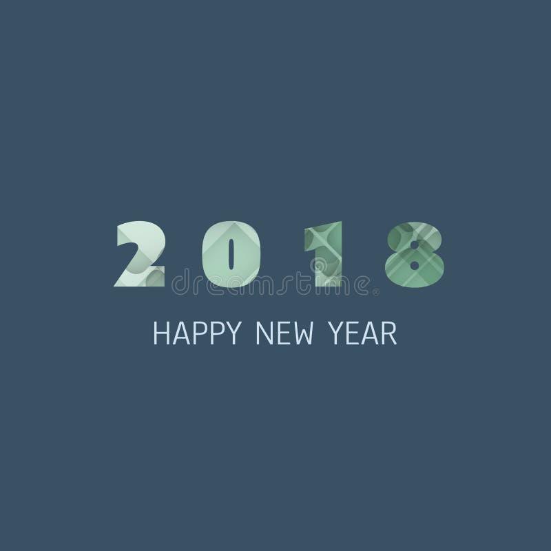 Enkel färgrik för kort-, räknings- eller bakgrundsdesign för nytt år mall - 2018 stock illustrationer