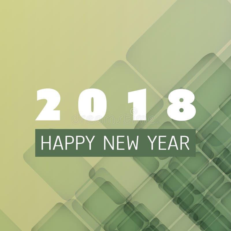 Enkel färgrik för kort-, räknings- eller bakgrundsdesign för nytt år mall - 2018 vektor illustrationer