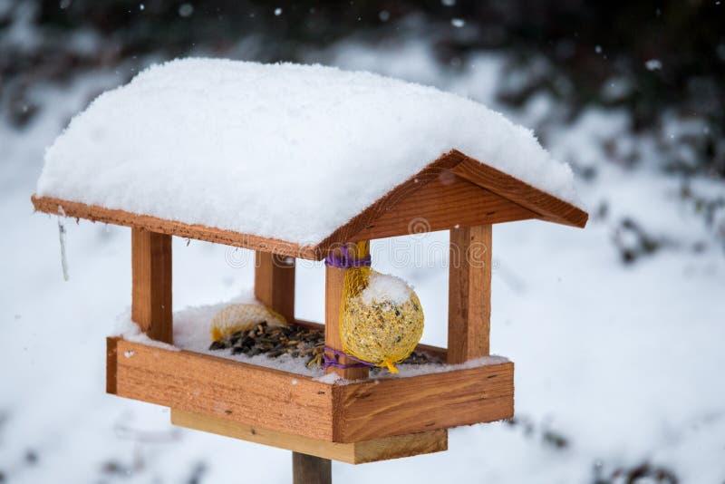 Enkel fågelförlagematare royaltyfri fotografi
