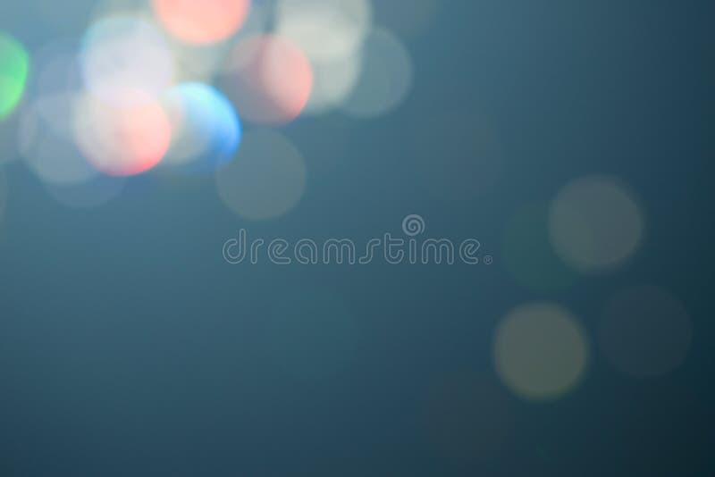 Enkel festlig blåttdesign Magisk effekt för Celebratory lynne Färgrik härlig suddig bokehbakgrund arkivbild