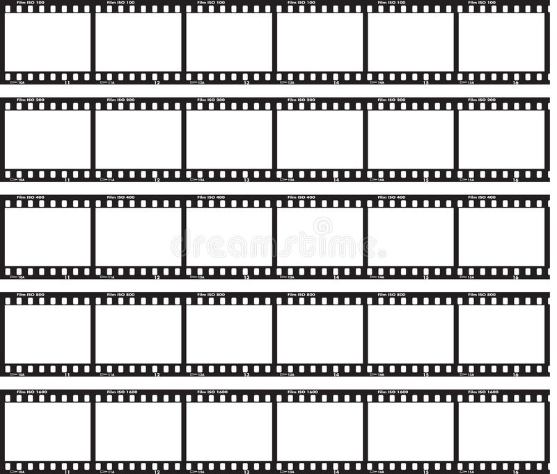 Enkel film stock illustratie