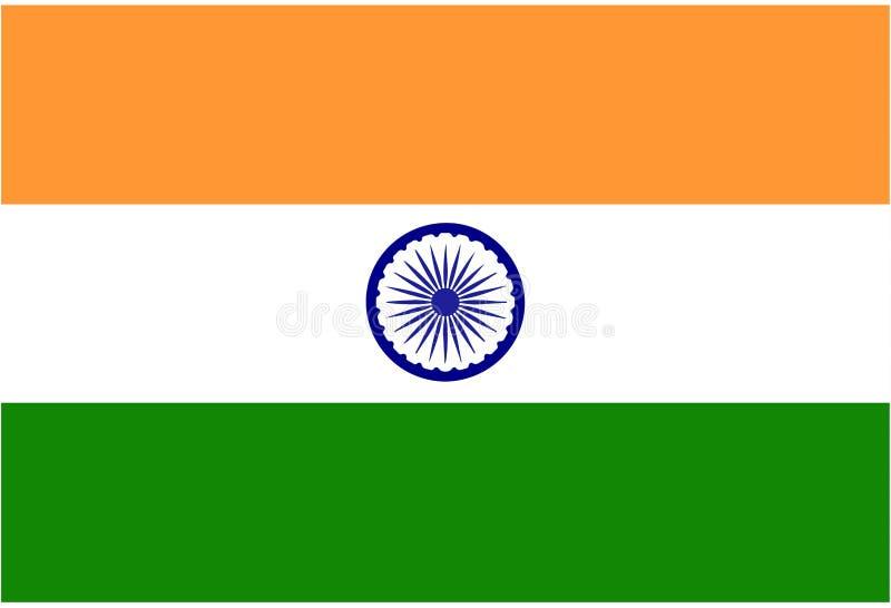 Enkel flagga av Indien bakgrund vektor illustrationer
