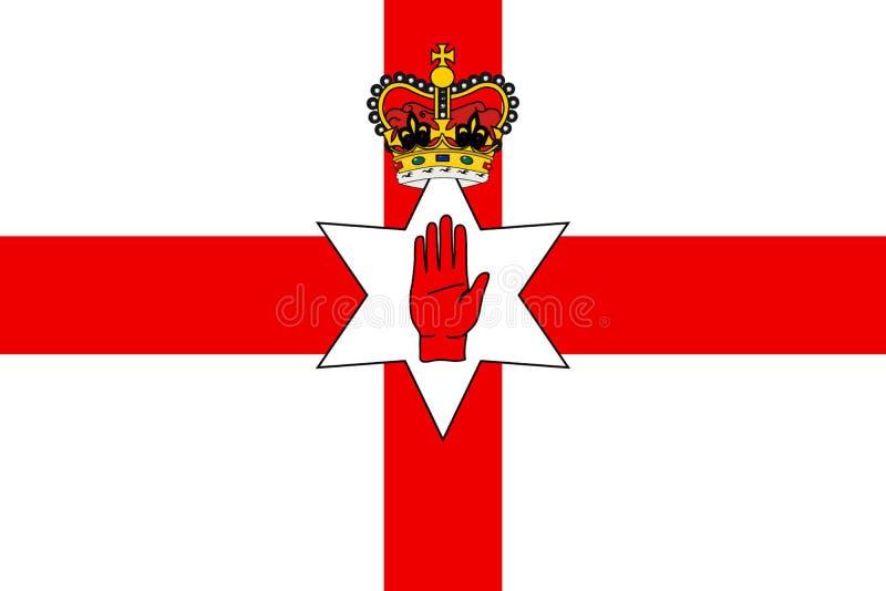 Enkel flagga av nordligt - Irland royaltyfri illustrationer
