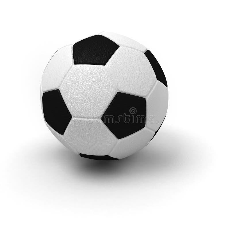 enkel fotboll för boll royaltyfri bild