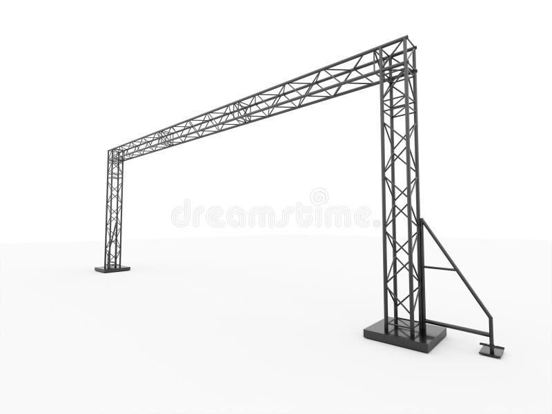 Enkel framförd etappkonstruktion royaltyfri illustrationer