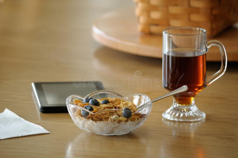 enkel frukost arkivfoto