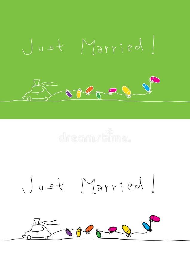 Enkel gehuwd royalty-vrije illustratie