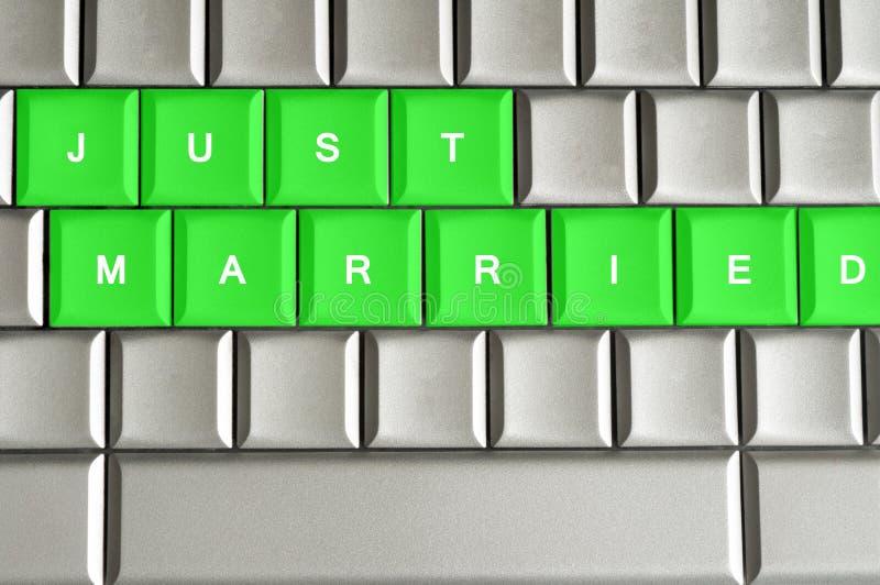 Enkel Gehuwd gespeld op een metaaltoetsenbord vector illustratie