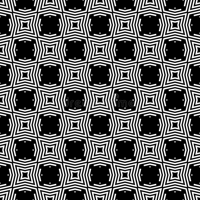 Enkel geometrisk banddiagonal, svartvitt sömlöst vektortryck för prickar royaltyfri illustrationer
