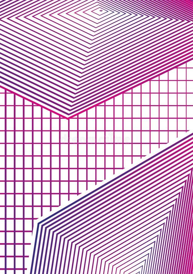 Enkel geometrisk minsta räkningsdesign 02 Modern abstrakt räkning stock illustrationer