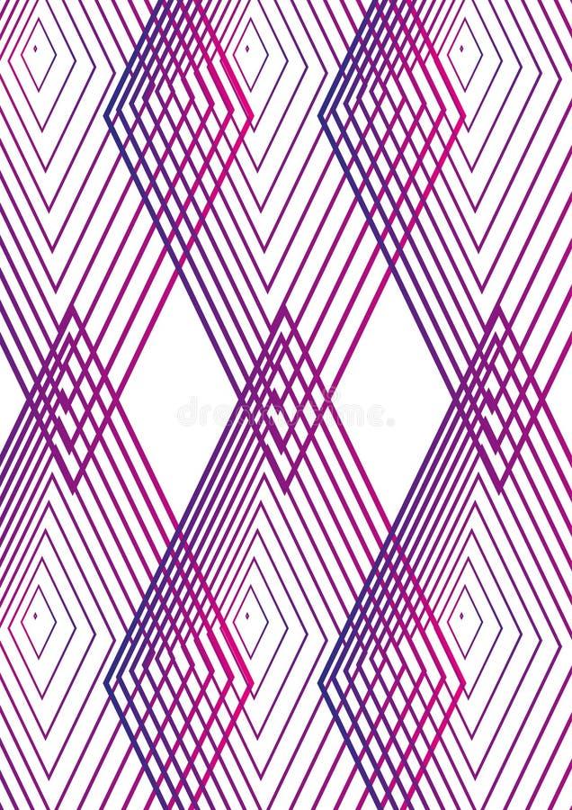 Enkel geometrisk minsta räkningsdesign 04 Modern abstrakt räkning Framtida broschyrmall royaltyfri illustrationer