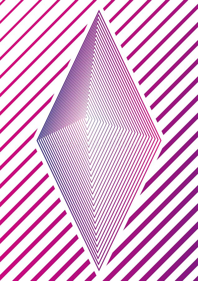 Enkel geometrisk minsta räkningsdesign 01 Modern abstrakt räkning Framtida broschyrmall Kan användas för gåvakort royaltyfri illustrationer