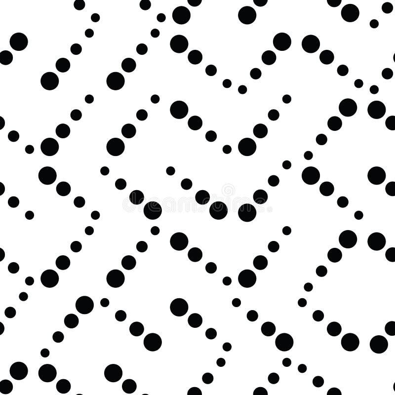 Enkel geometrisk truchetmodellbakgrund i klassiskt svartvitt stock illustrationer