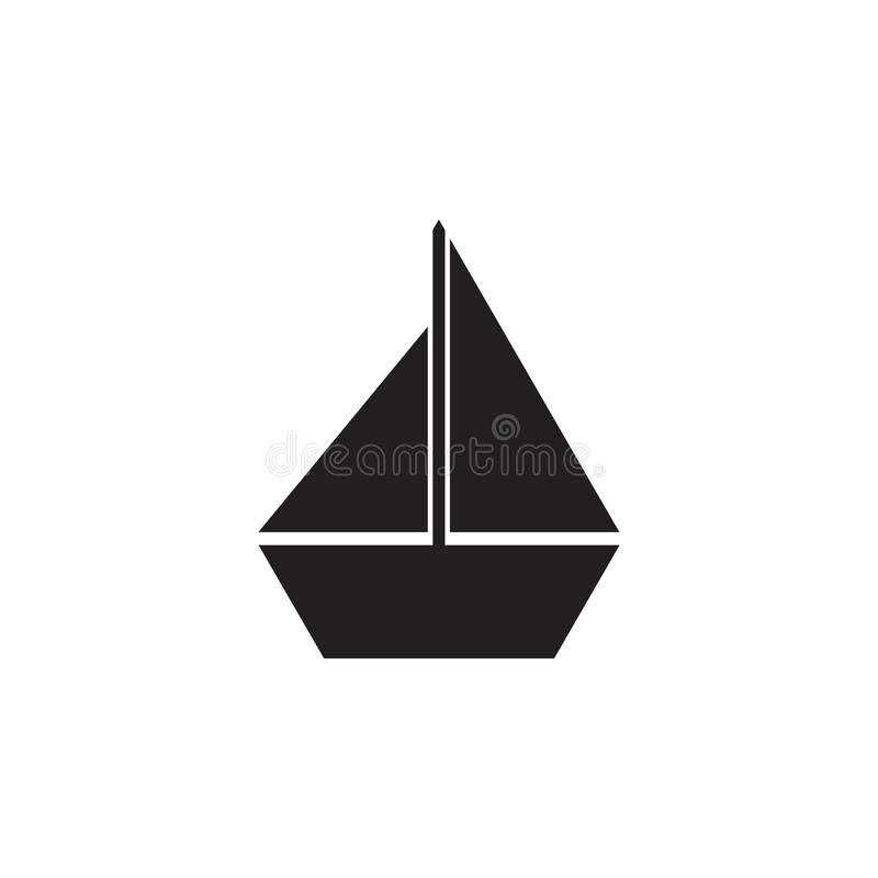 Enkel geometrisk vektor för fartygsymbol vektor illustrationer