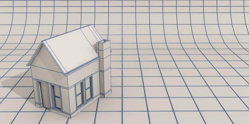 Enkel husmodell stock illustrationer