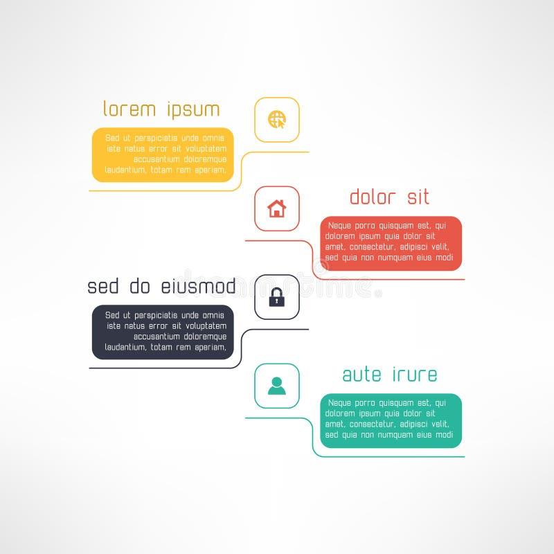 Enkel infographic mall som är passande för affär vektor illustrationer