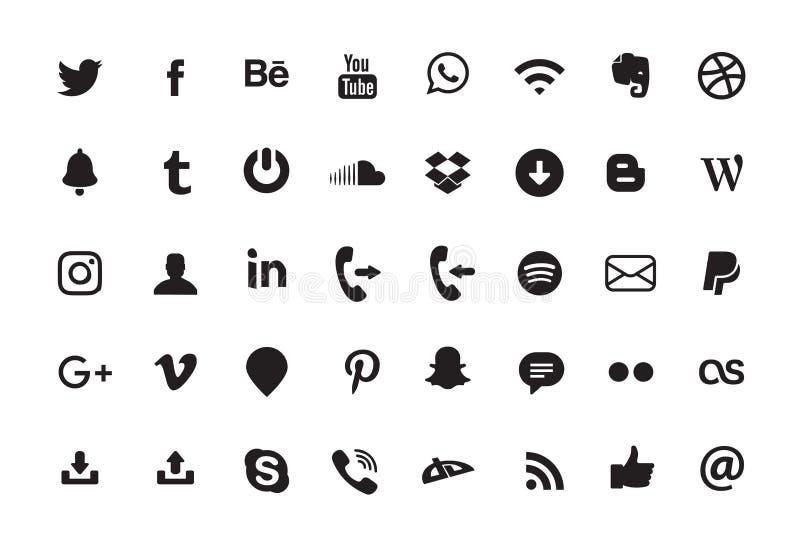 Enkel isolerad YouTube logosymbol royaltyfri illustrationer