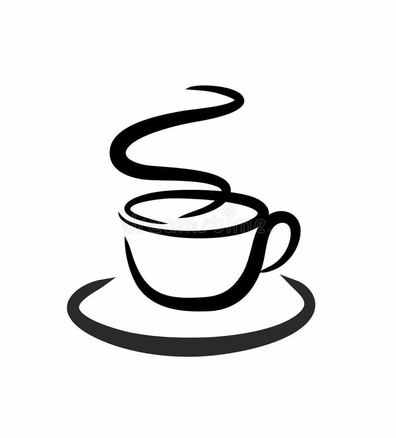 Enkel koffie royalty-vrije illustratie