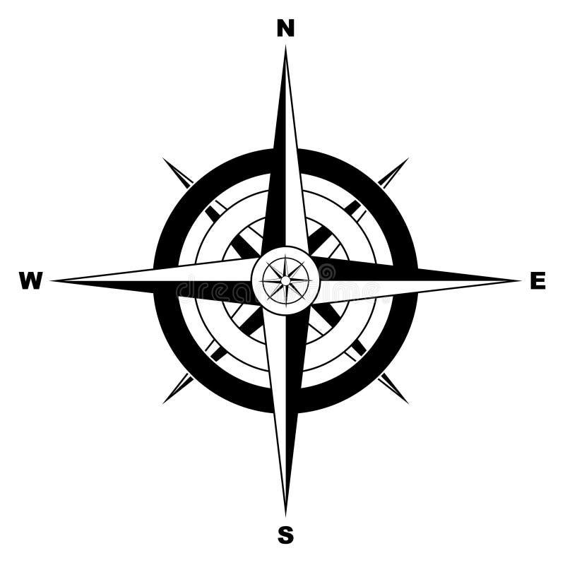 enkel kompass vektor illustrationer
