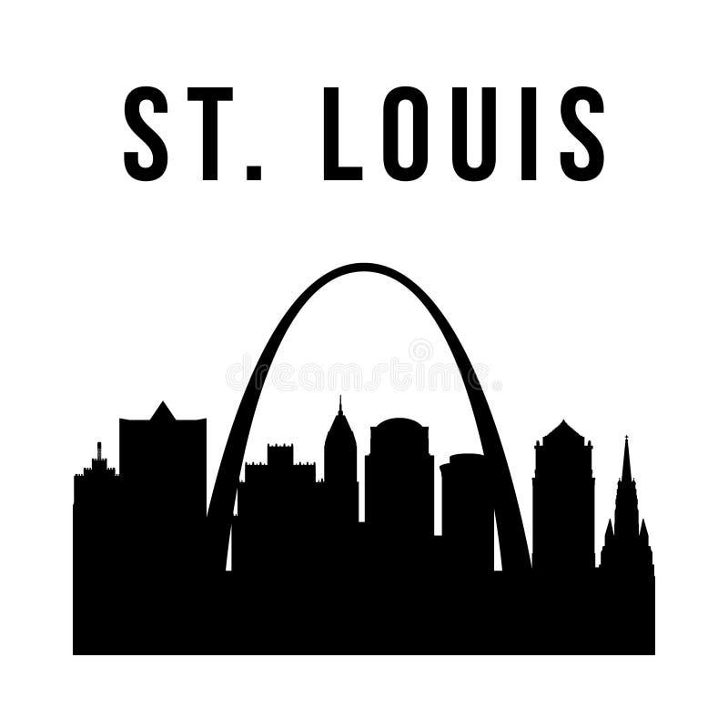 Enkel kontur för StLouis stad stock illustrationer