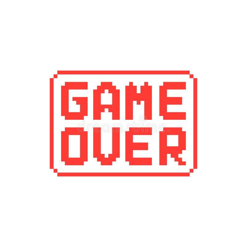 Enkel lek över PIXELemblem på vit bakgrund royaltyfri illustrationer