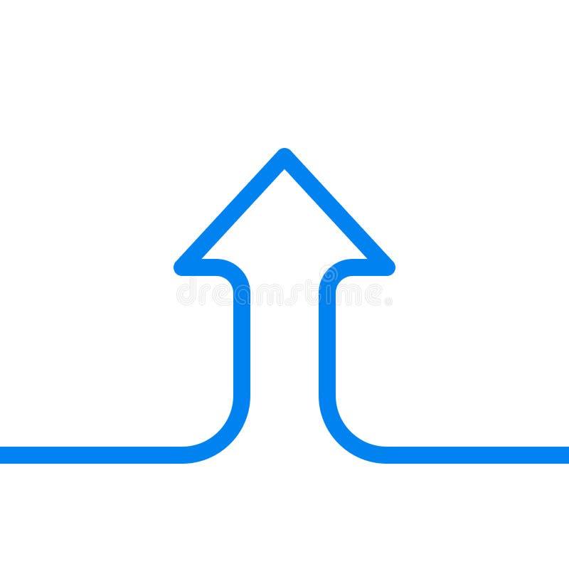 Enkel linje pil, tillväxt stock illustrationer