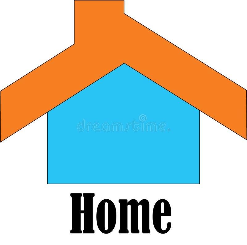 Enkel logo för min homestay stock illustrationer