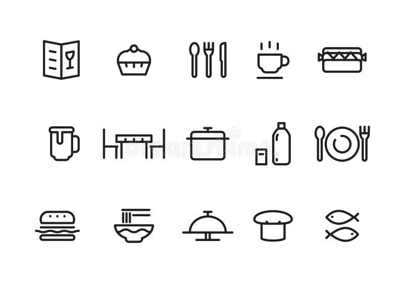 Enkel matsymbol, vektor royaltyfri illustrationer