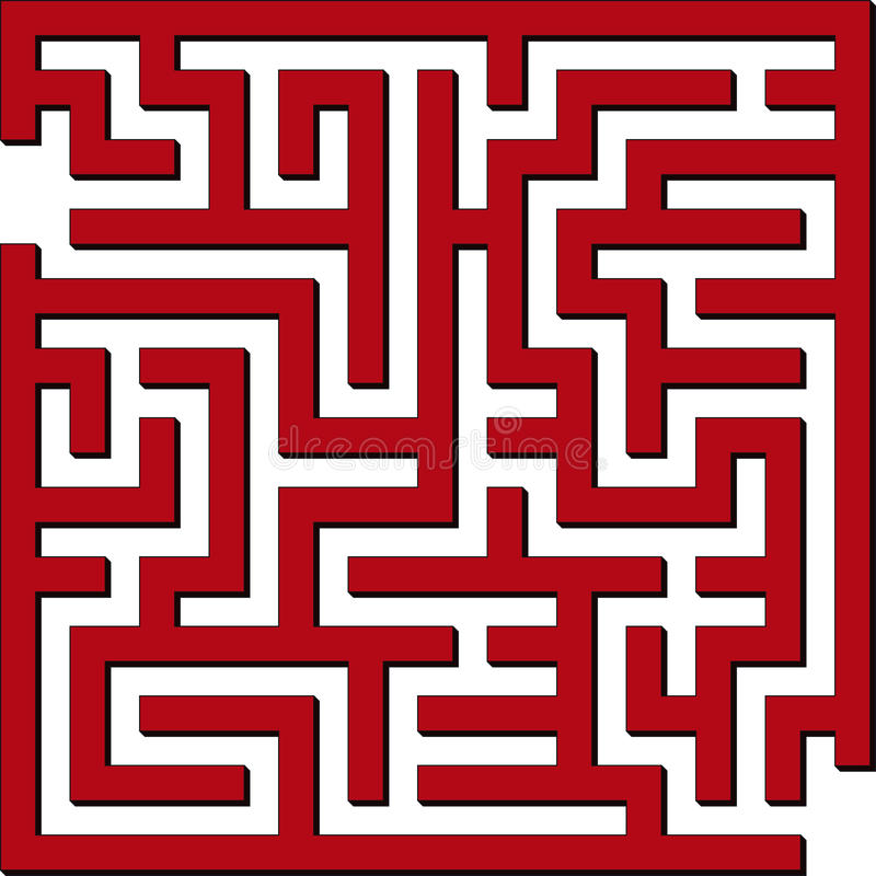 Download Enkel maze vektor illustrationer. Bild av isolerat, galler - 9697782