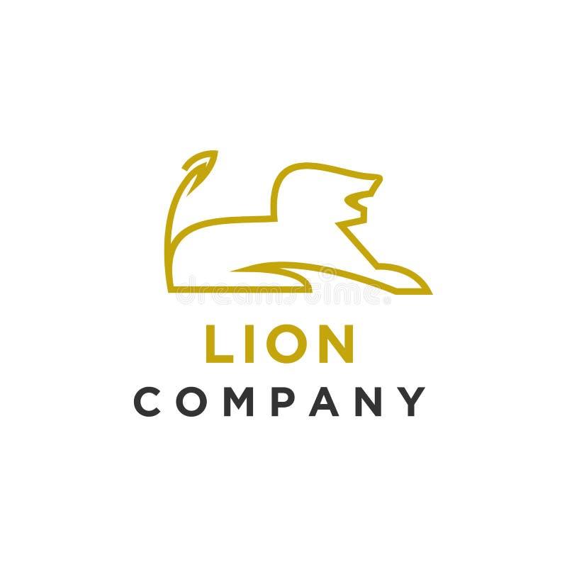 Enkel minimalist för lejonlogodesign vektor illustrationer