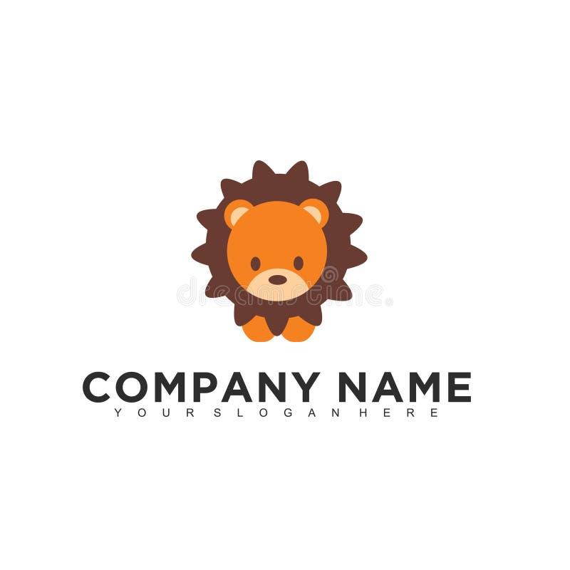 Enkel minimalistic modern yrkesmässig logodesign av mallen för illustratör för barnvektorEPS royaltyfri illustrationer