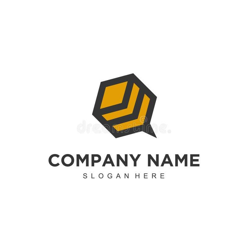 Enkel minimalistic modern yrkesmässig logodesign av mallen för illustratör för bivektorEPS stock illustrationer