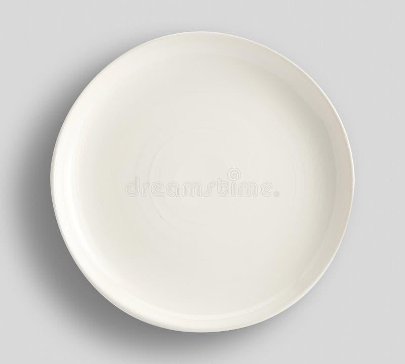 Enkel modern enkel f?rgplatta - skissa bordsservissamlingen - vita f?rgbordsservisplattor - bild arkivfoto