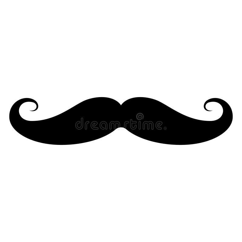 Enkel mustaschsymbol vektor illustrationer