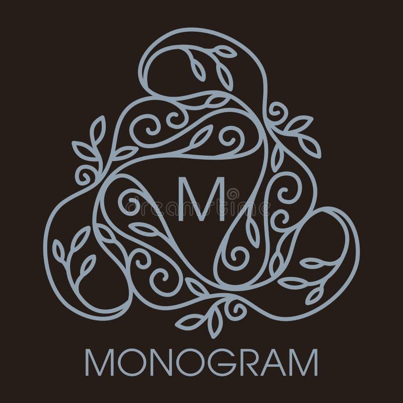 Enkel och elegant monokrom vektor för lyx, stock illustrationer