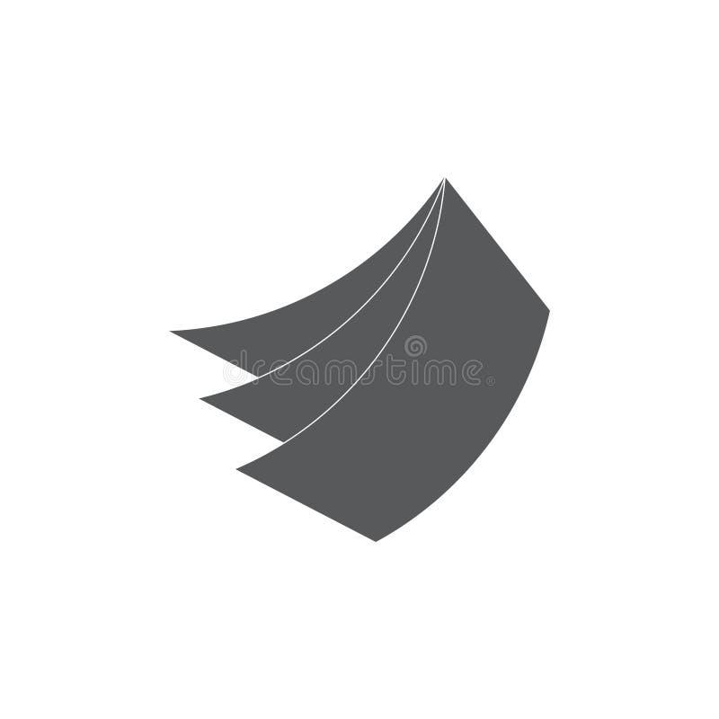 Enkel plan geometrisk pappers- logovektor för anmärkningar 3d royaltyfri illustrationer