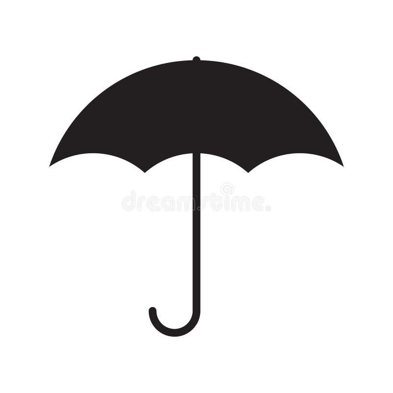 Enkel plan paraplysymbol vektor illustrationer