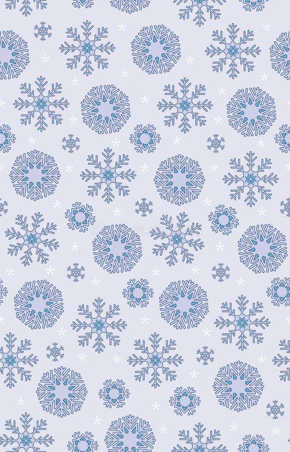 Enkel purpurfärgad monokrom bohemisk jul snör åt bakgrund för modellen för snöflingavektorn sömlös för tyg, tapet royaltyfri illustrationer